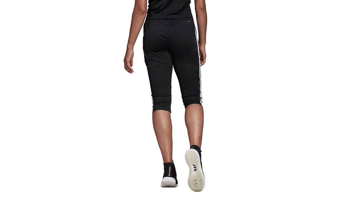 Women's Adidas Tiro 19 3/4 Pants - Color: Black/White Size: XXS, Black/White, large, image 3