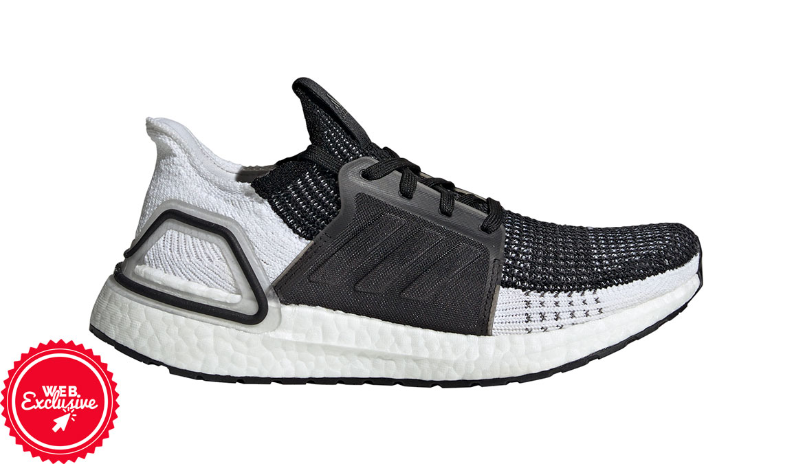 Women's Adidas UltraBOOST 19 Running Shoe - Color: Core Black/Grey (Regular Width) - Size: 5, Black/Grey, large, image 1