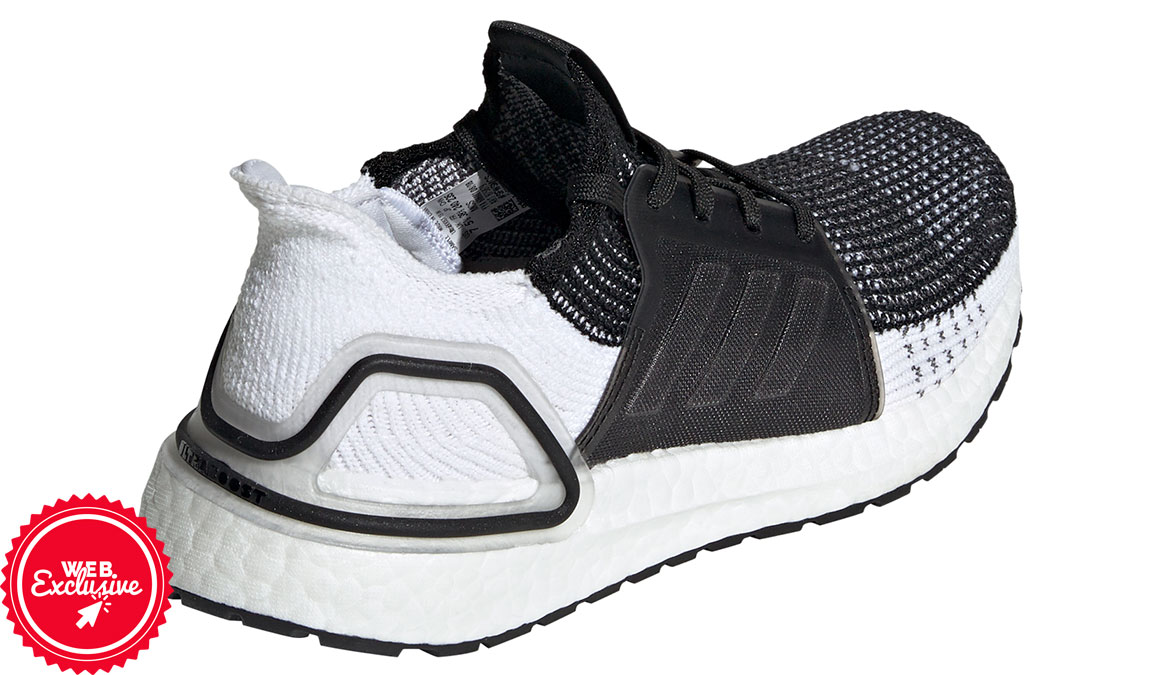 Women's Adidas UltraBOOST 19 Running Shoe - Color: Core Black/Grey (Regular Width) - Size: 5, Black/Grey, large, image 2