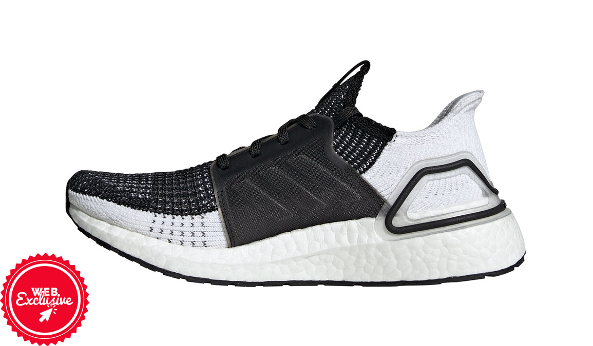 Women's Adidas UltraBOOST 19 Running Shoe - Color: Core Black/Grey (Regular Width) - Size: 5, Black/Grey, large, image 3