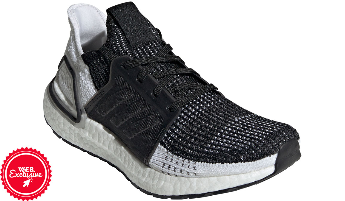 Women's Adidas UltraBOOST 19 Running Shoe - Color: Core Black/Grey (Regular Width) - Size: 5, Black/Grey, large, image 4