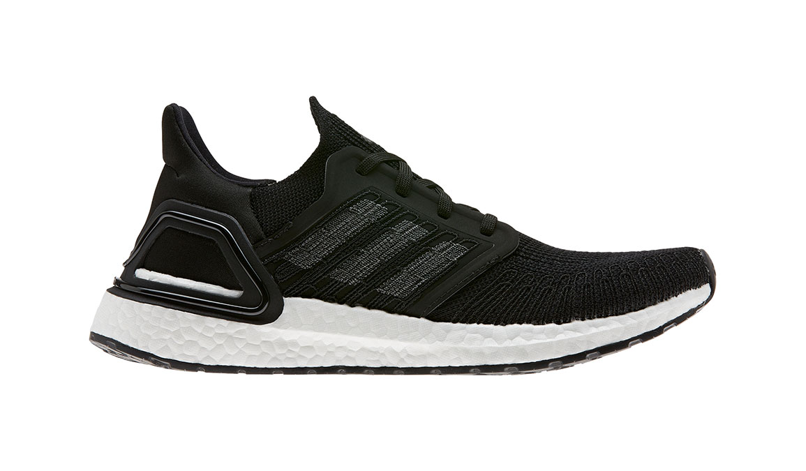 Women's Adidas UltraBOOST 20 Running Shoe - Color: Core Black/Feather White (Regular Width) - Size: 5, Core Black/Feather White, large, image 1