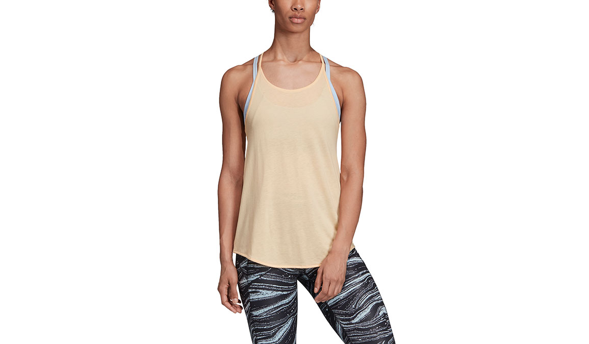 Women's Adidas Wanderlust Long Tank - Color: Glow Orange Size: XXS, Glow Orange, large, image 1