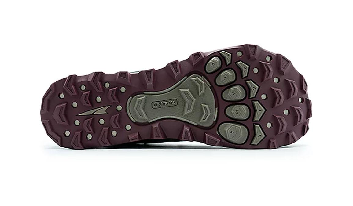 Women's Altra Lone Peak 4 Mid Mesh Running Shoe - Color: Olive/Dark Port (Regular Width) - Size: 6.5, Olive/Dark Port, large, image 3