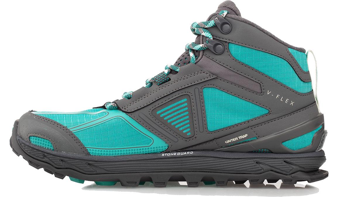 Women's Altra Lone Peak 4 Mid Mesh Trail Running Shoe - Color: Teal/Grey (Regular Width) - Size: 6.5, Teal, large, image 2