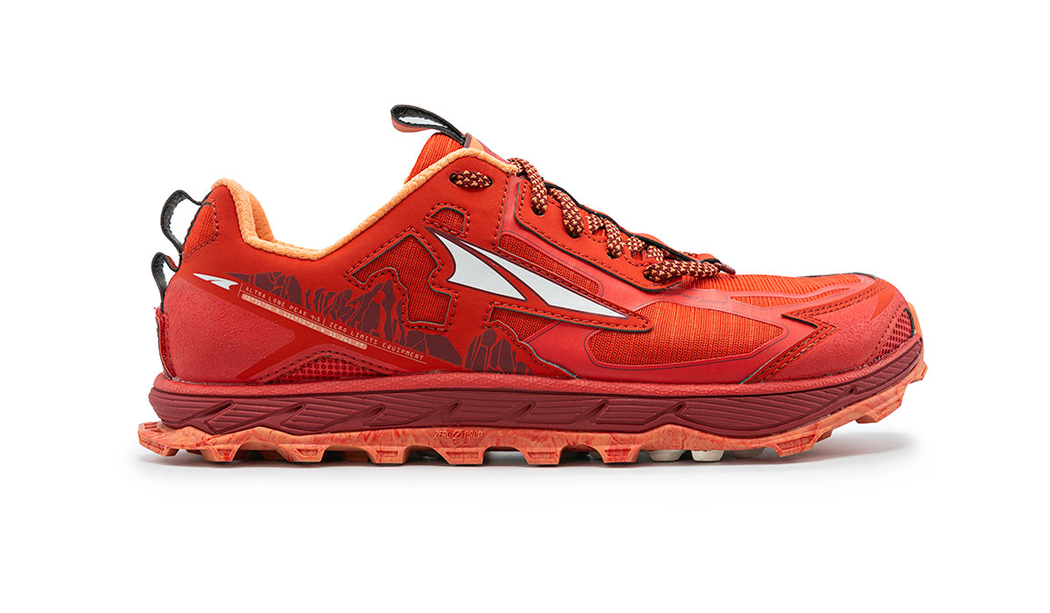 Women's Altra Lone Peak 4.5 Low Trail Running Shoe - Color: Poppy Red (Regular Width) - Size: 6, Poppy Red, large, image 1