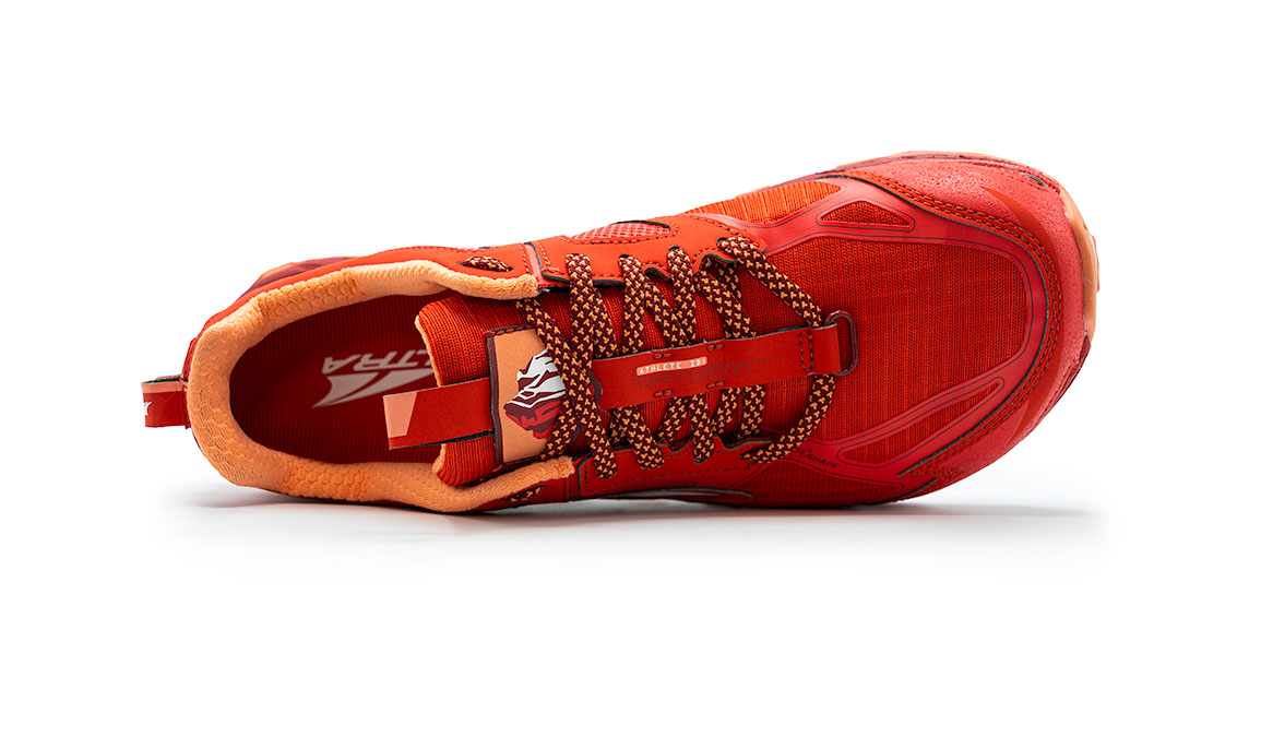 Women's Altra Lone Peak 4.5 Low Trail Running Shoe - Color: Poppy Red (Regular Width) - Size: 6, Poppy Red, large, image 2