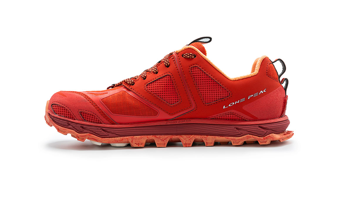 Women's Altra Lone Peak 4.5 Low Trail Running Shoe - Color: Poppy Red (Regular Width) - Size: 6, Poppy Red, large, image 4