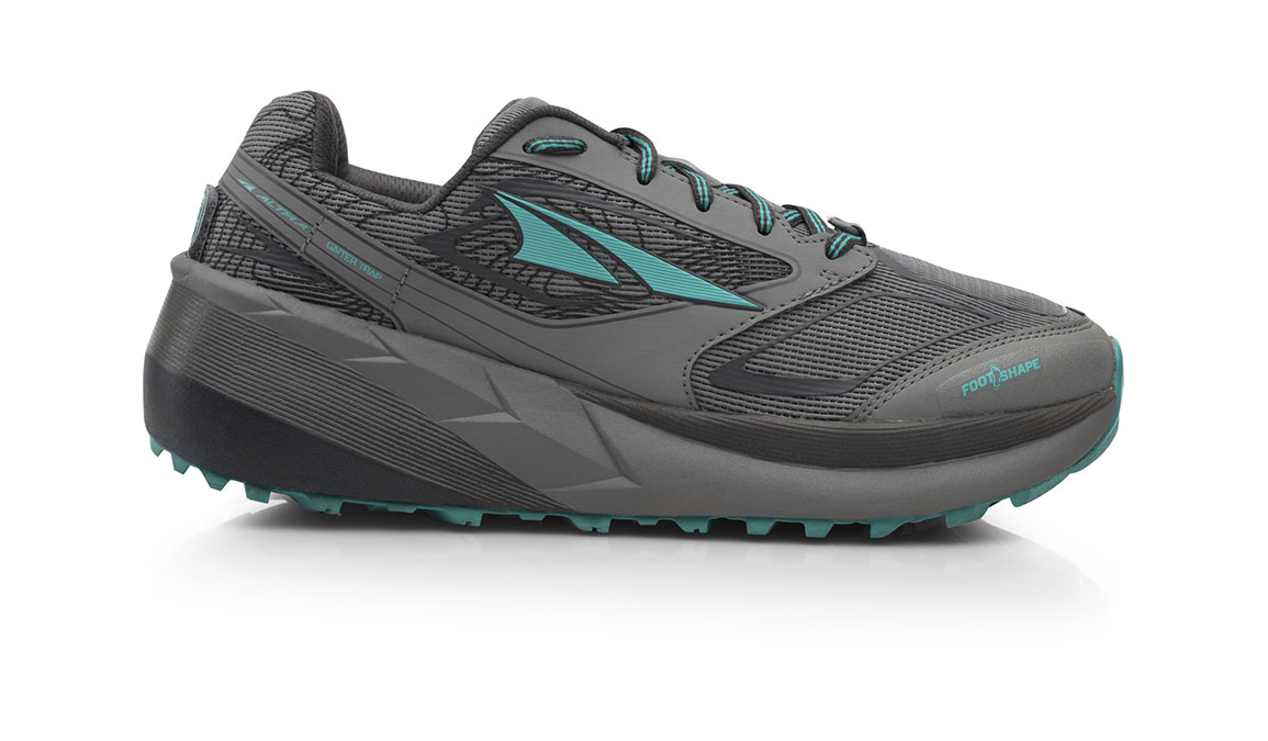 Women's Altra Olympus 3.0 Trail Running Shoe - Color: Grey/Teal (Regular Width) - Size: 11, Grey, large, image 1