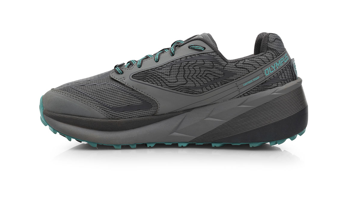 Women's Altra Olympus 3.0 Trail Running Shoe - Color: Grey/Teal (Regular Width) - Size: 11, Grey, large, image 2