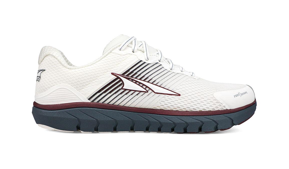 Women's Altra Provision 4 Running Shoe - Color: White/Burgundy (Regular Width) - Size: 6.5, White/Burgundy, large, image 1
