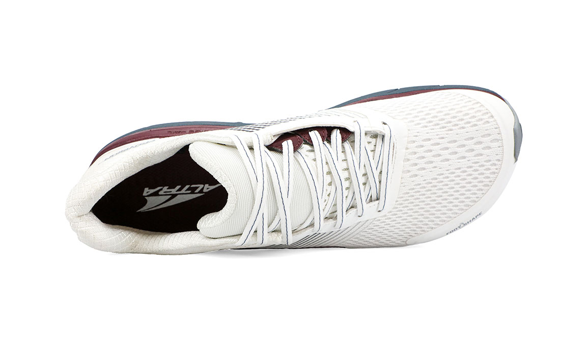 Women's Altra Provision 4 Running Shoe - Color: White/Burgundy (Regular Width) - Size: 6.5, White/Burgundy, large, image 2