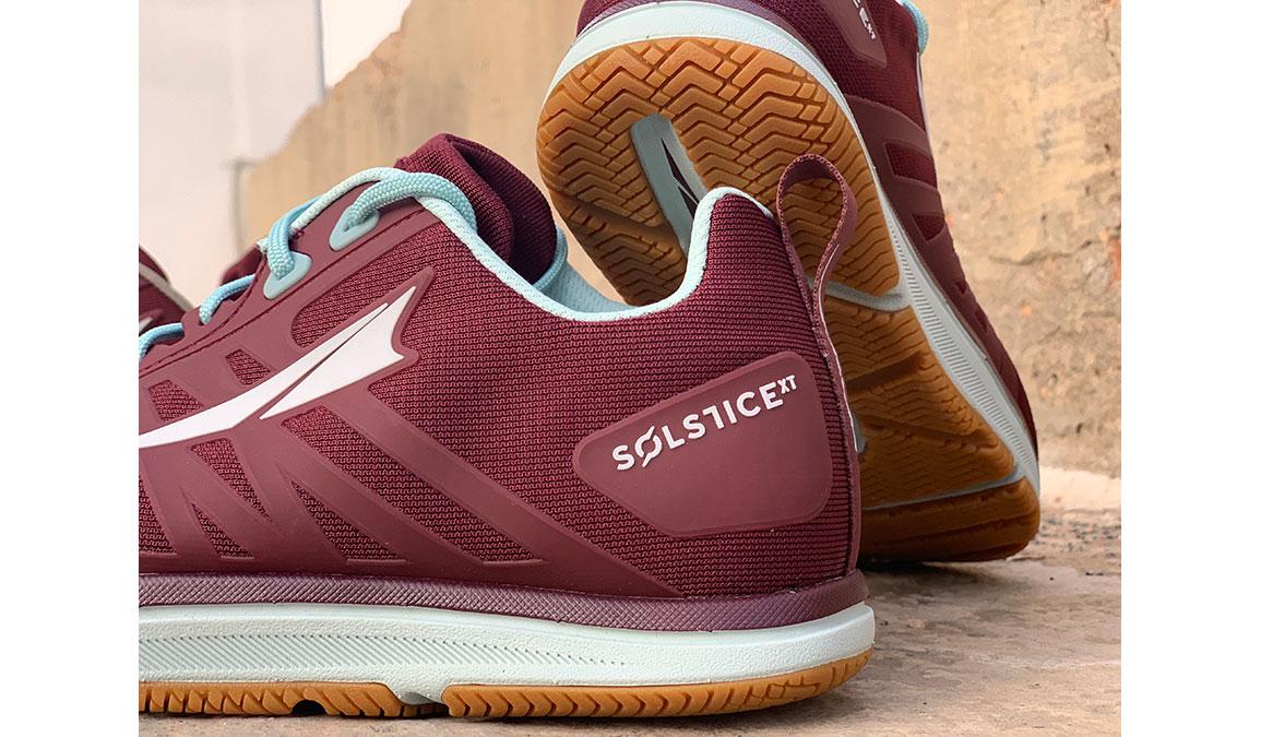 Women's Altra Solstice XT Training Shoes - JackRabbit Exclusive - Color: Dark Port/Turquoise (Regular Width) - Size: 8.5, Red/Blue, large, image 3