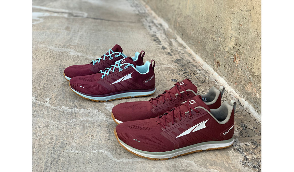 Women's Altra Solstice XT Training Shoes - JackRabbit Exclusive - Color: Dark Port/Turquoise (Regular Width) - Size: 8.5, Red/Blue, large, image 4