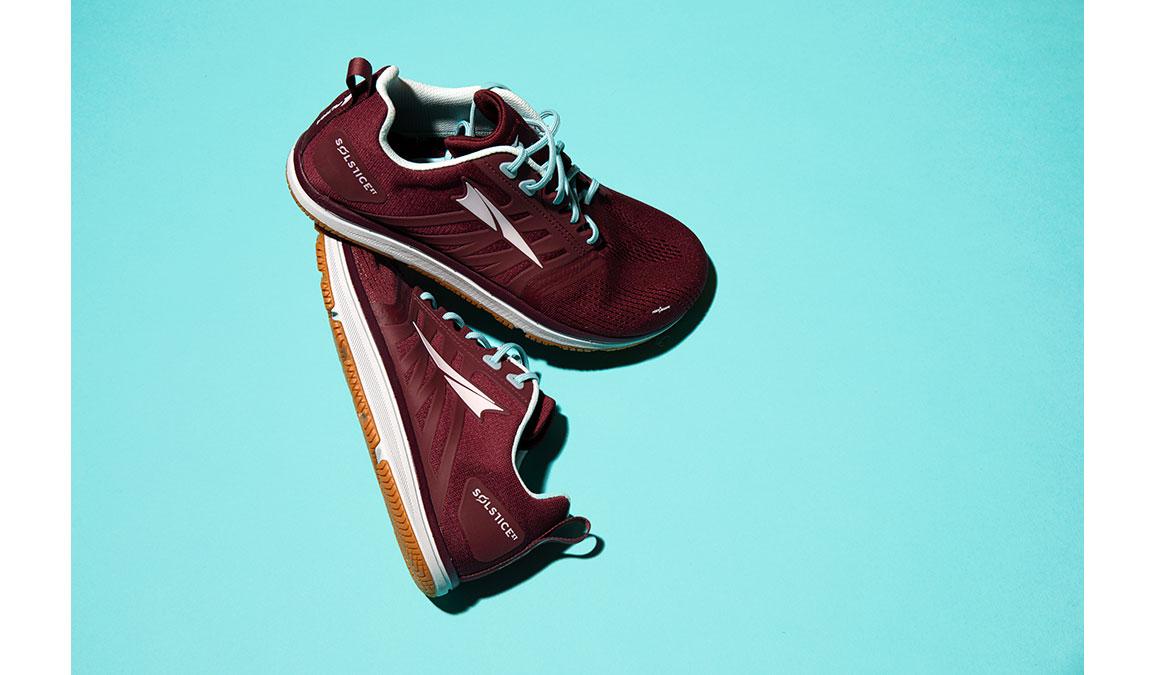 Women's Altra Solstice XT Training Shoes - JackRabbit Exclusive - Color: Dark Port/Turquoise (Regular Width) - Size: 8.5, Red/Blue, large, image 2