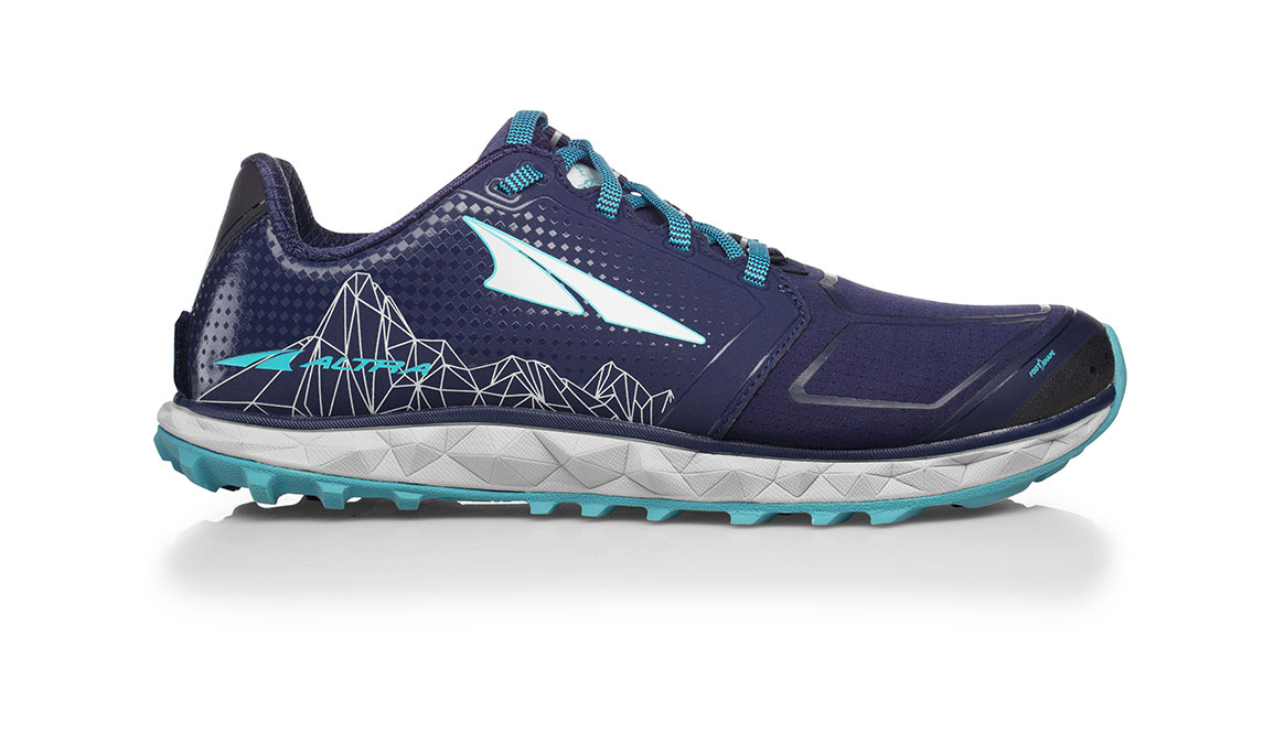 Women's Altra Superior 4.0 Trail Running Shoe - Color: Dark Blue (Regular Width) - Size: 6, Dark Blue, large, image 1