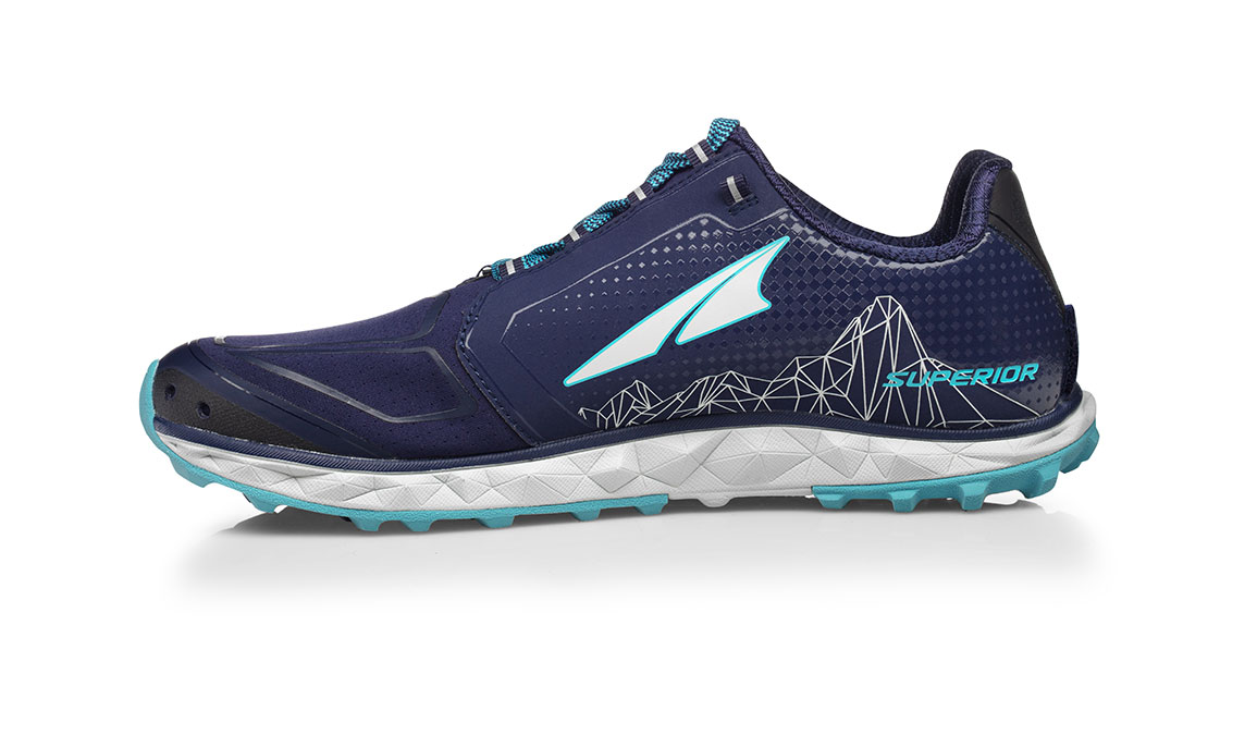 Women's Altra Superior 4.0 Trail Running Shoe - Color: Dark Blue (Regular Width) - Size: 6, Dark Blue, large, image 2