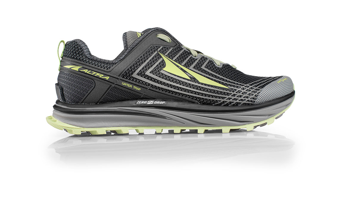 Women's Altra Timp 1.5 Trail Running Shoe - Color: Grey/Lime (Regular Width) - Size: 10.5, Grey/Lime, large, image 1