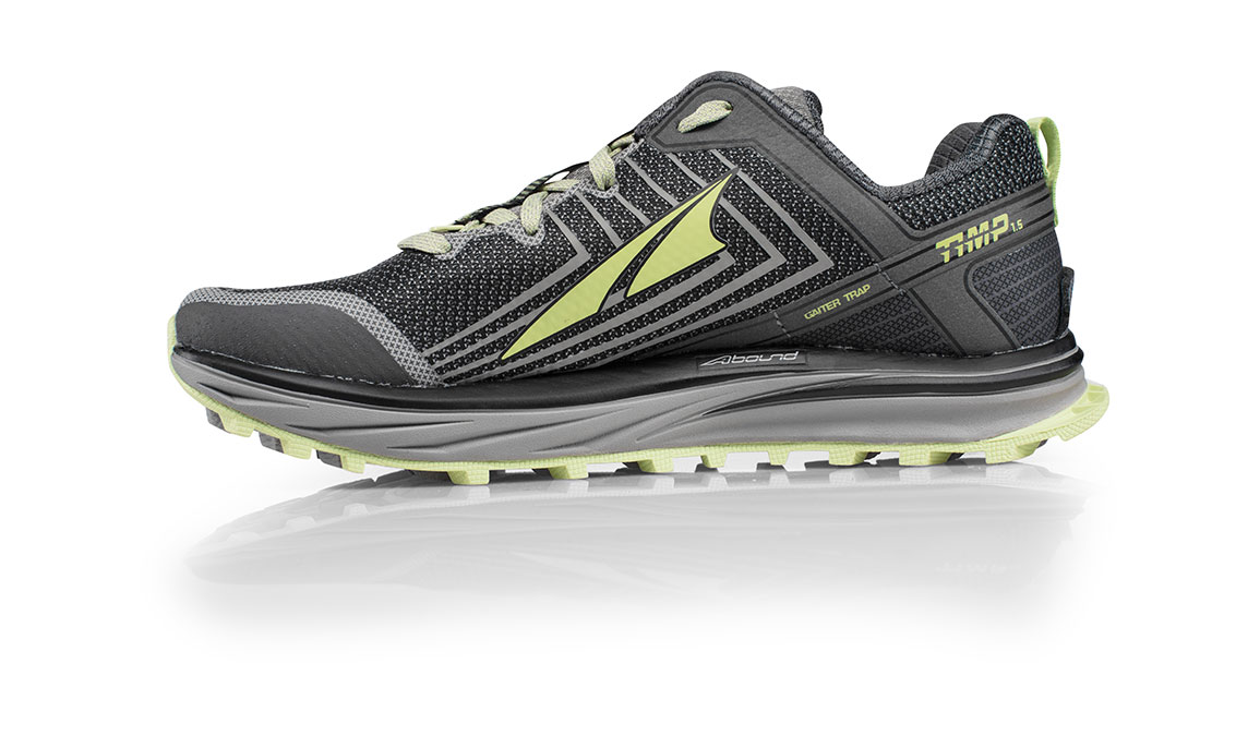 Women's Altra Timp 1.5 Trail Running Shoe - Color: Grey/Lime (Regular Width) - Size: 10.5, Grey/Lime, large, image 2
