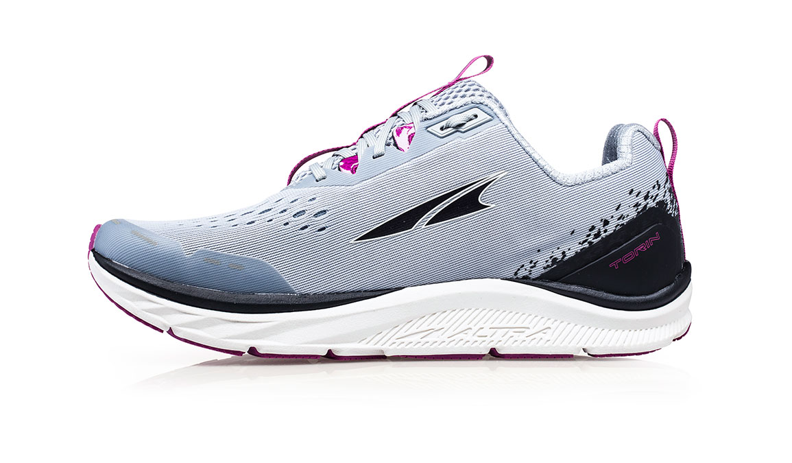 Women's Altra Torin 4 Running Shoe - Color: Grey/Purple (Regular Width) - Size: 5.5, Grey/Purple, large, image 2