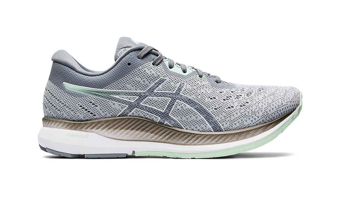 Women's Asics EvoRide Running Shoe - Color: Piedmont Grey/Mint Tint (Regular Width) - Size: 6.5, Grey/Green, large, image 1