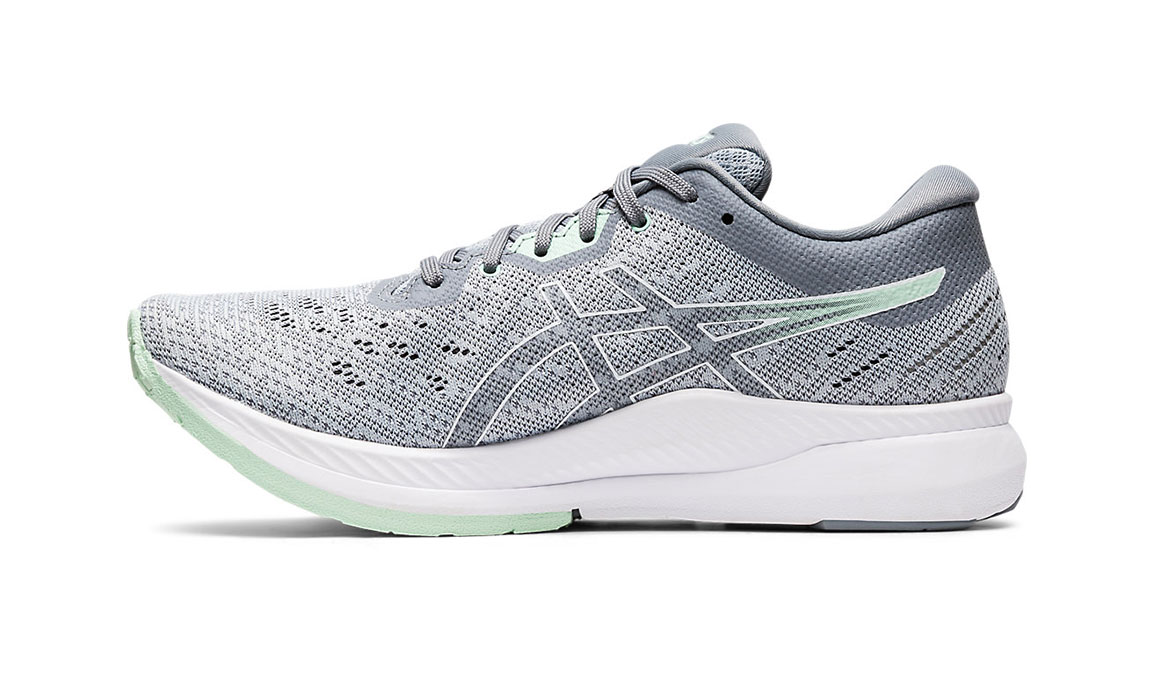 Women's Asics EvoRide Running Shoe - Color: Piedmont Grey/Mint Tint (Regular Width) - Size: 6.5, Grey/Green, large, image 2