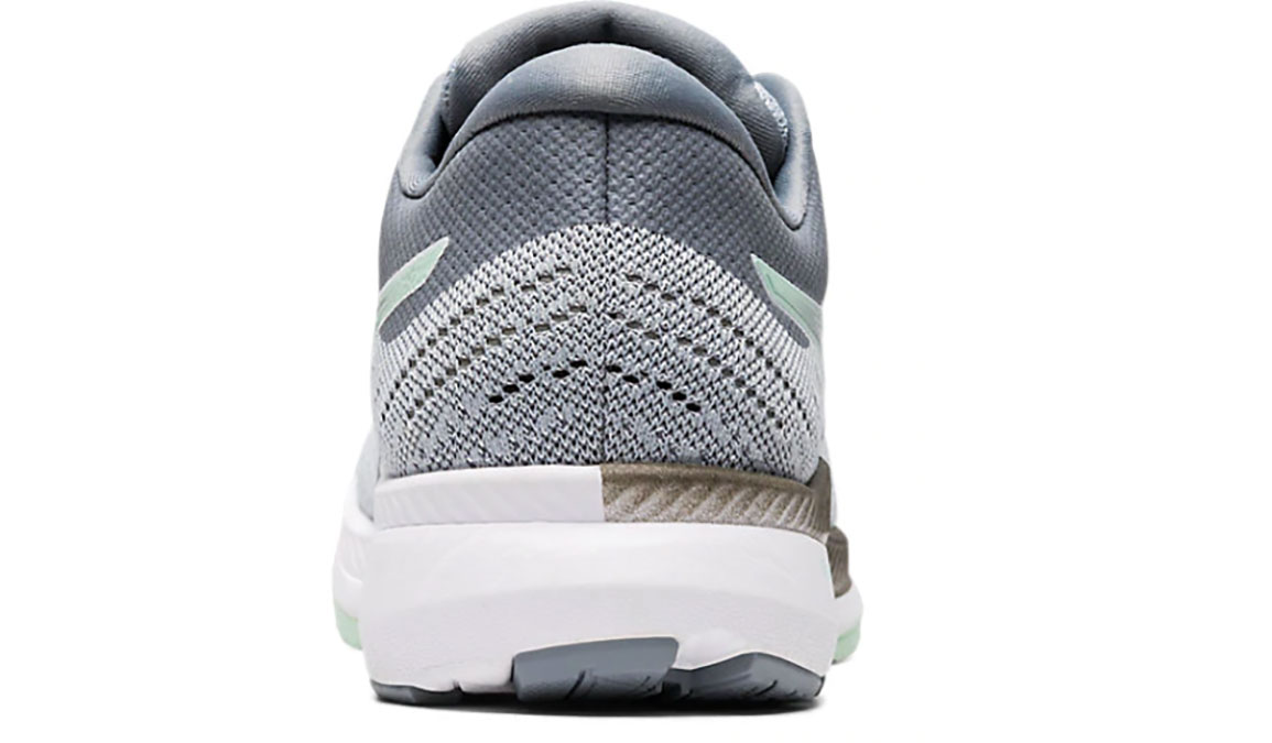 Women's Asics EvoRide Running Shoe - Color: Piedmont Grey/Mint Tint (Regular Width) - Size: 6.5, Grey/Green, large, image 4