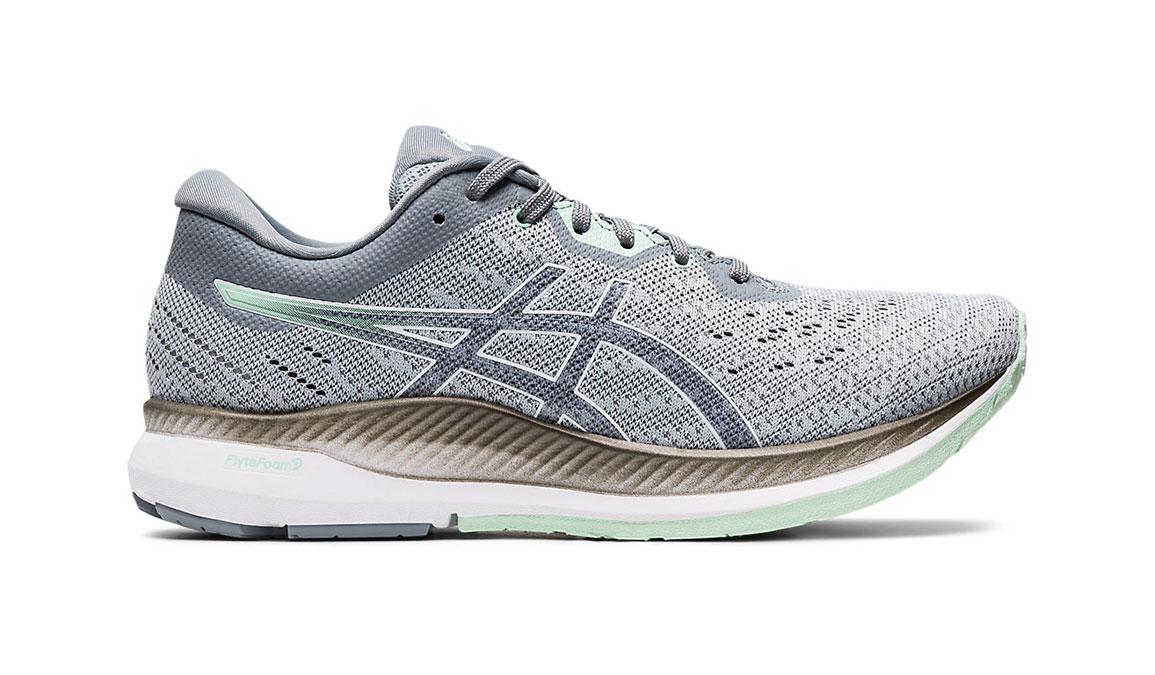 Women's Asics EvoRide Running Shoe - Color: Piedmont Grey/Mint Tint (Regular Width) - Size: 6.5, Grey/Green, large, image 1