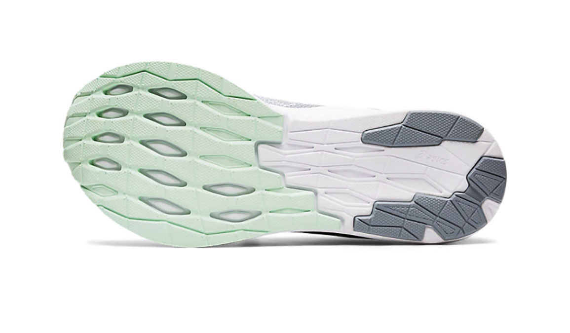 Women's Asics EvoRide Running Shoe - Color: Piedmont Grey/Mint Tint (Regular Width) - Size: 6.5, Grey/Green, large, image 3