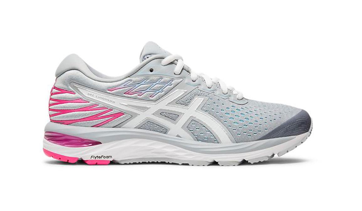 Women's Asics GEL-Cumulus 21 Running Shoe - Color: Piedmont Grey/White (Regular Width) - Size: 5.5, Grey/White, large, image 1