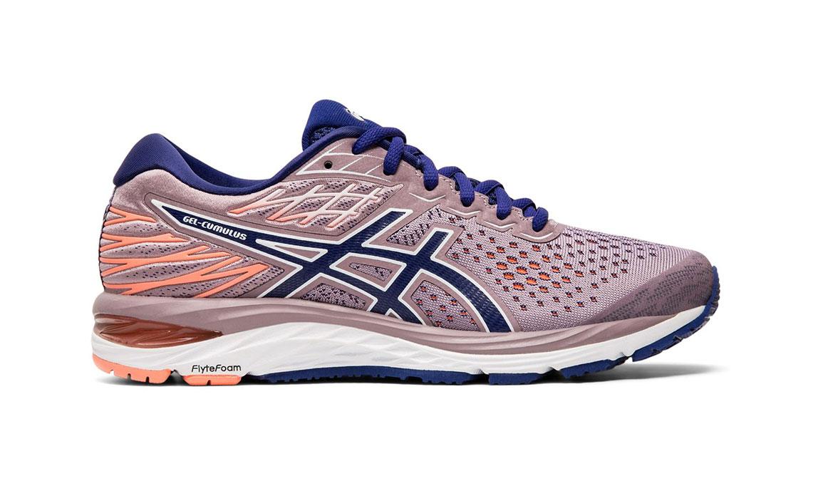 Women's Asics GEL-Cumulus 21 Running Shoe - Color: Violet Blush/Dive Blue (Regular Width) - Size: 5.5, Violet, large, image 1
