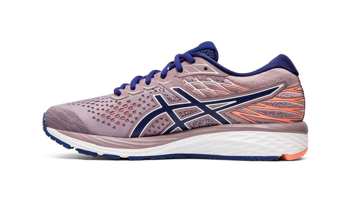 Women's Asics GEL-Cumulus 21 Running Shoe - Color: Violet Blush/Dive Blue (Regular Width) - Size: 5.5, Violet, large, image 2