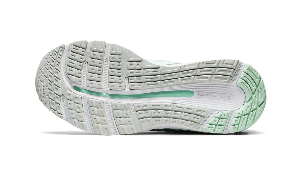 Women's Asics GEL-Cumulus 21 Running Shoe JackRabbit Exclusive - Color: Polar Shade (Regular Width) - Size: 6.5, White/Green, large, image 3