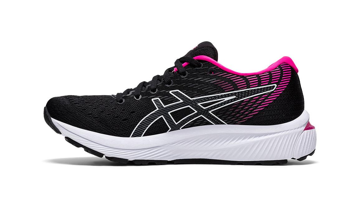 Women's Asics GEL-Cumulus 22 Running Shoe - Color: Black/Pink Glo (Regular Width) - Size: 6, Black/Pink, large, image 3