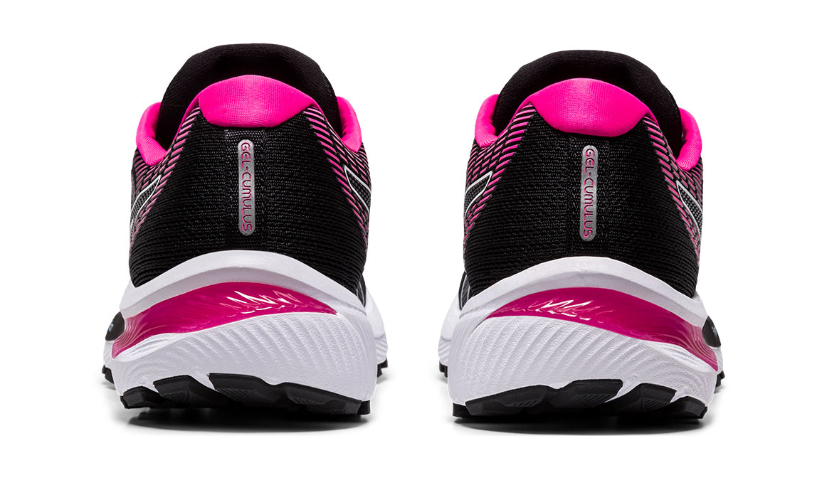 Women's Asics GEL-Cumulus 22 Running Shoe - Color: Black/Pink Glo (Regular Width) - Size: 6, Black/Pink, large, image 4