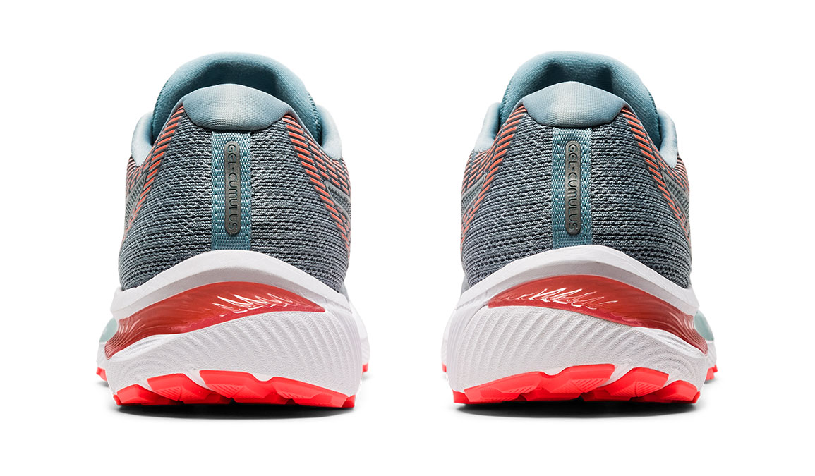 Women's Asics GEL-Cumulus 22 Running Shoe - Color: Piedmont Grey/Light Steel (Regular Width) - Size: 6, Grey/Blue, large, image 4