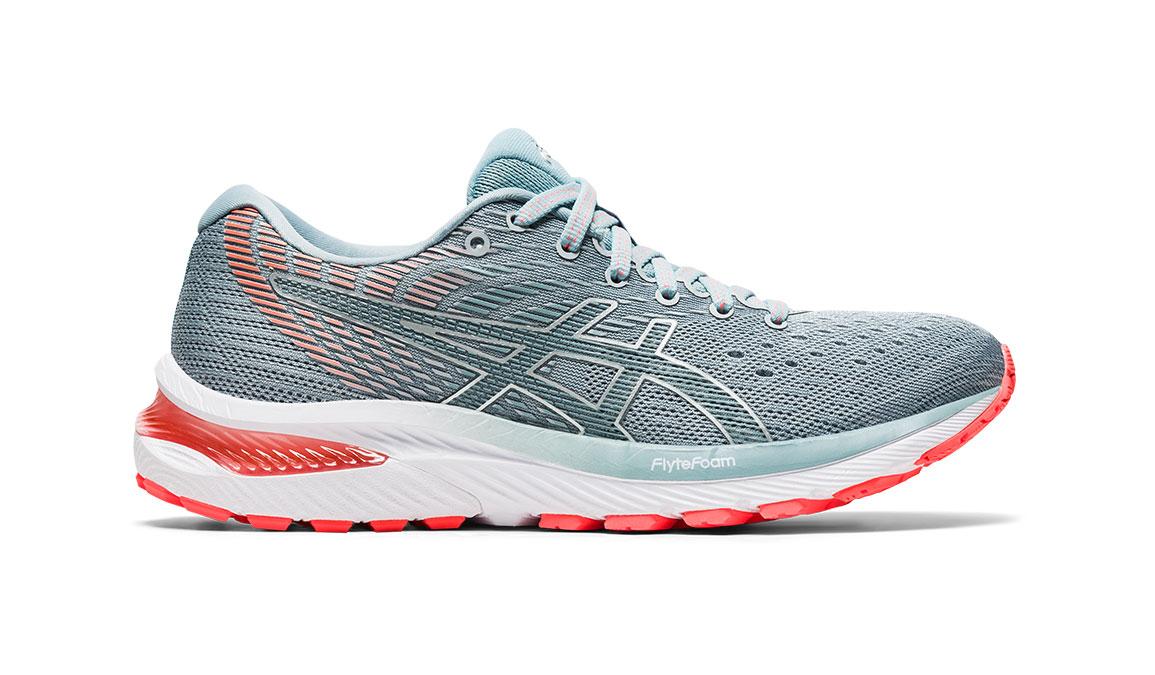 Women's Asics GEL-Cumulus 22 Running Shoe - Color: Piedmont Grey/Light Steel (Regular Width) - Size: 6, Grey/Blue, large, image 1