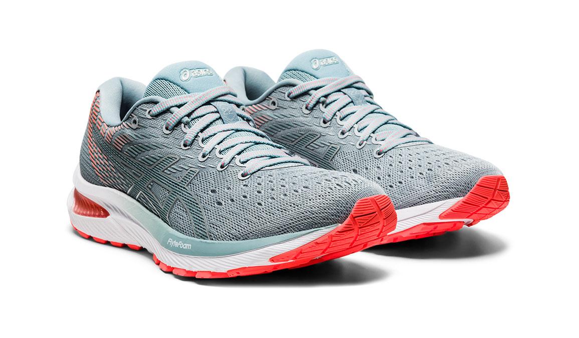 Women's Asics GEL-Cumulus 22 Running Shoe - Color: Piedmont Grey/Light Steel (Regular Width) - Size: 6, Grey/Blue, large, image 2