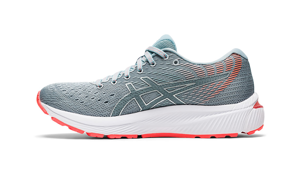 Women's Asics GEL-Cumulus 22 Running Shoe - Color: Piedmont Grey/Light Steel (Regular Width) - Size: 6, Grey/Blue, large, image 3