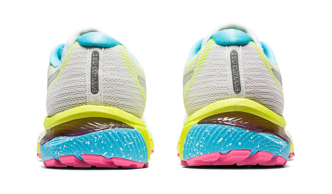 Women's Asics GEL-Cumulus 22 Running Shoe - Color: White/Pure Silver (Regular Width) - Size: 6, White/Yellow, large, image 4