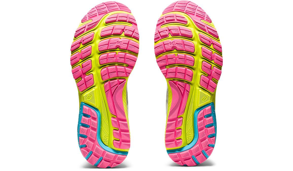 Women's Asics GEL-Cumulus 22 Running Shoe - Color: White/Pure Silver (Regular Width) - Size: 6, White/Yellow, large, image 5