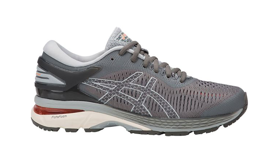 Women's Asics GEL-Kayano 25 Running Shoe - Color: Carbon Grey (Regular Width) - Size: 7.5, Carbon, large, image 1