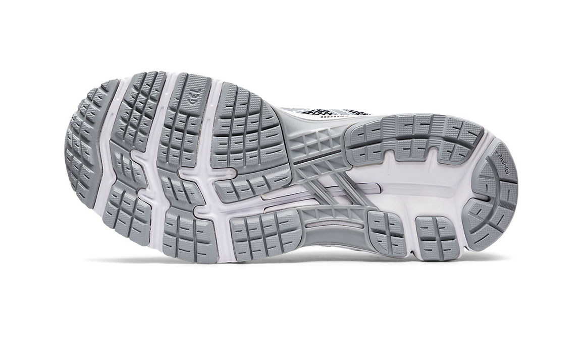 Women's Asics Gel-Kayano 26 Mx Running Shoe - Color: Piedmont Grey/Sheet Rock (Regular Width) - Size: 6.5, Grey/Black, large, image 3