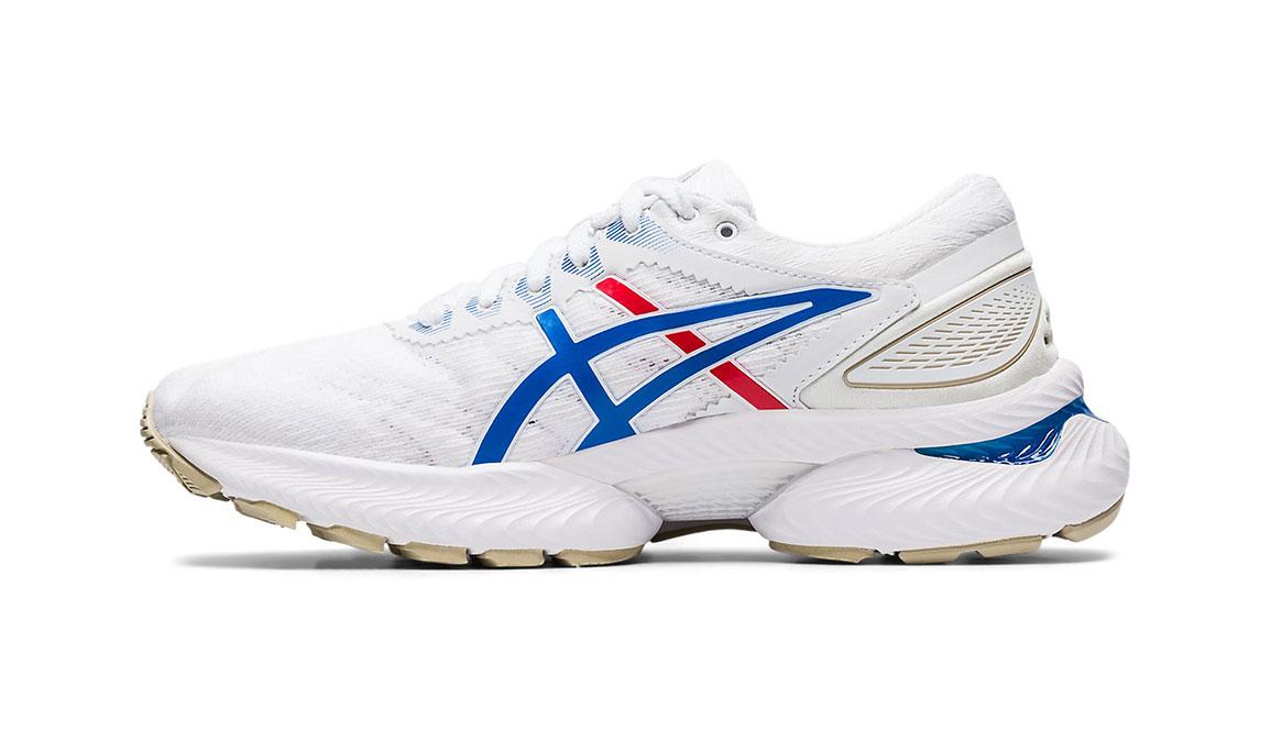 Women's Asics GEL-Nimbus 22 Retro Tokyo Running Shoe - Color: White/Electric Blue (Regular Width) - Size: 5, White/Blue, large, image 2