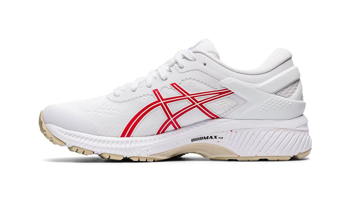 Women's Asics GEL-Kayano 26 Retro Tokyo Running Shoe - Color: White/Red (Regular Width) - Size: 7, White/Red, large, image 2