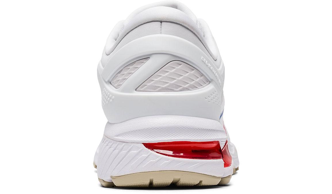 Women's Asics GEL-Kayano 26 Retro Tokyo Running Shoe - Color: White/Red (Regular Width) - Size: 7, White/Red, large, image 4