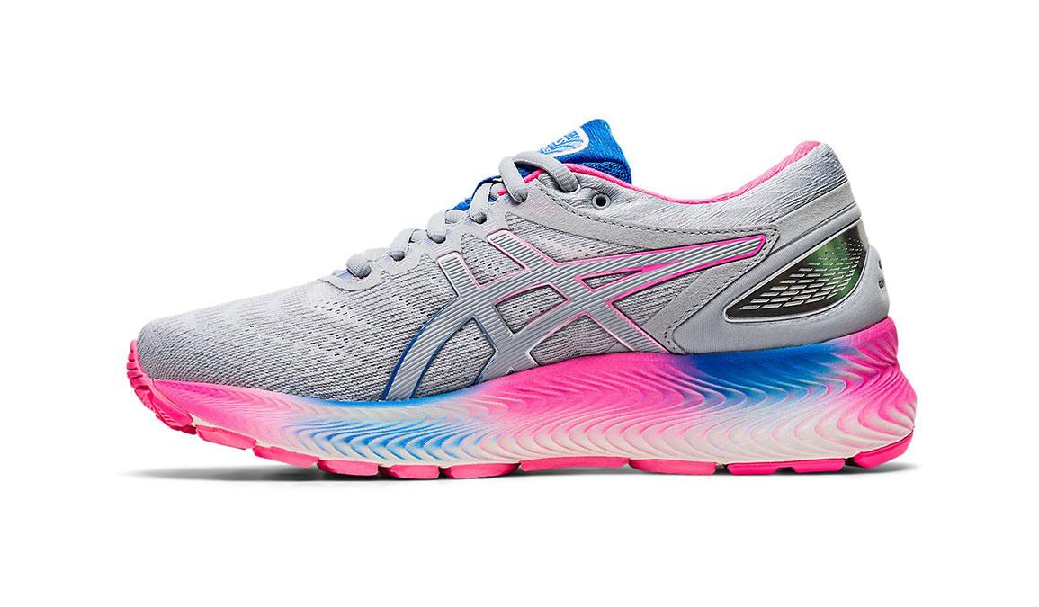 Women's Asics GEL-Nimbus Lite Running Shoe - Color: Piedmont Grey/Pink (Regular Width) - Size: 9.5, Grey/Pink, large, image 2