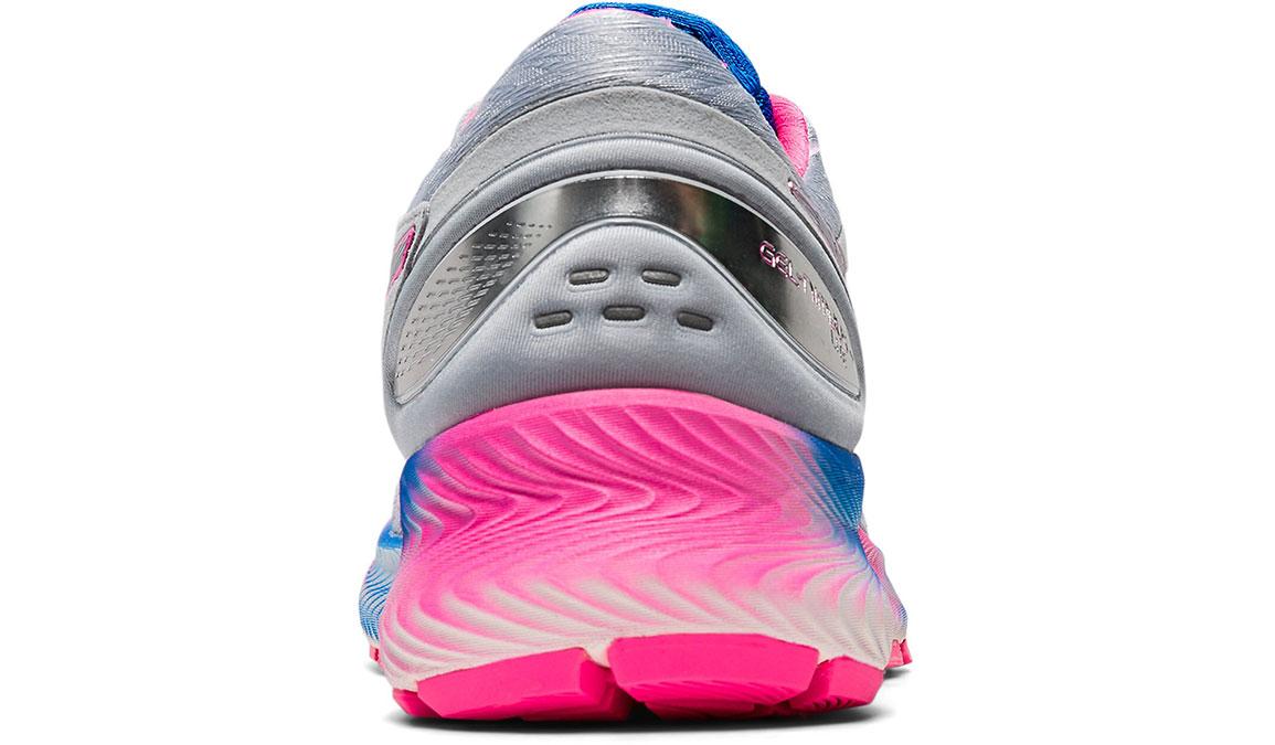 Women's Asics GEL-Nimbus Lite Running Shoe - Color: Piedmont Grey/Pink (Regular Width) - Size: 9.5, Grey/Pink, large, image 4