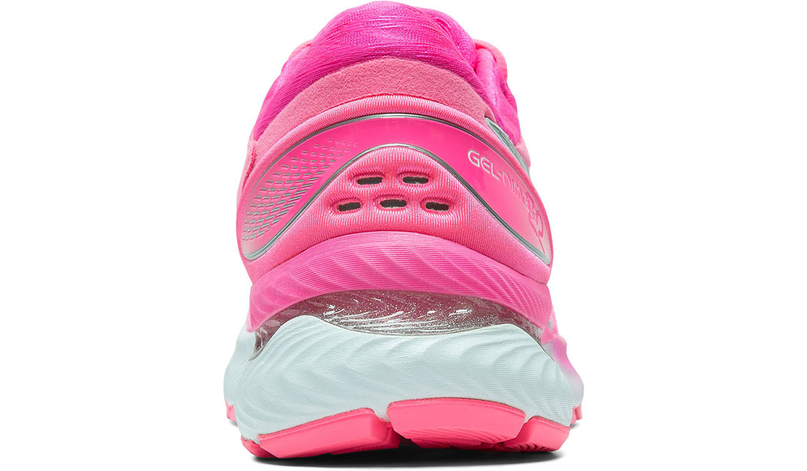 Women's Asics GEL-Nimbus 22 Running Shoe - Color: Hot Pink/Pure Silver (Regular Width) - Size: 6.5, Hot Pink, large, image 2