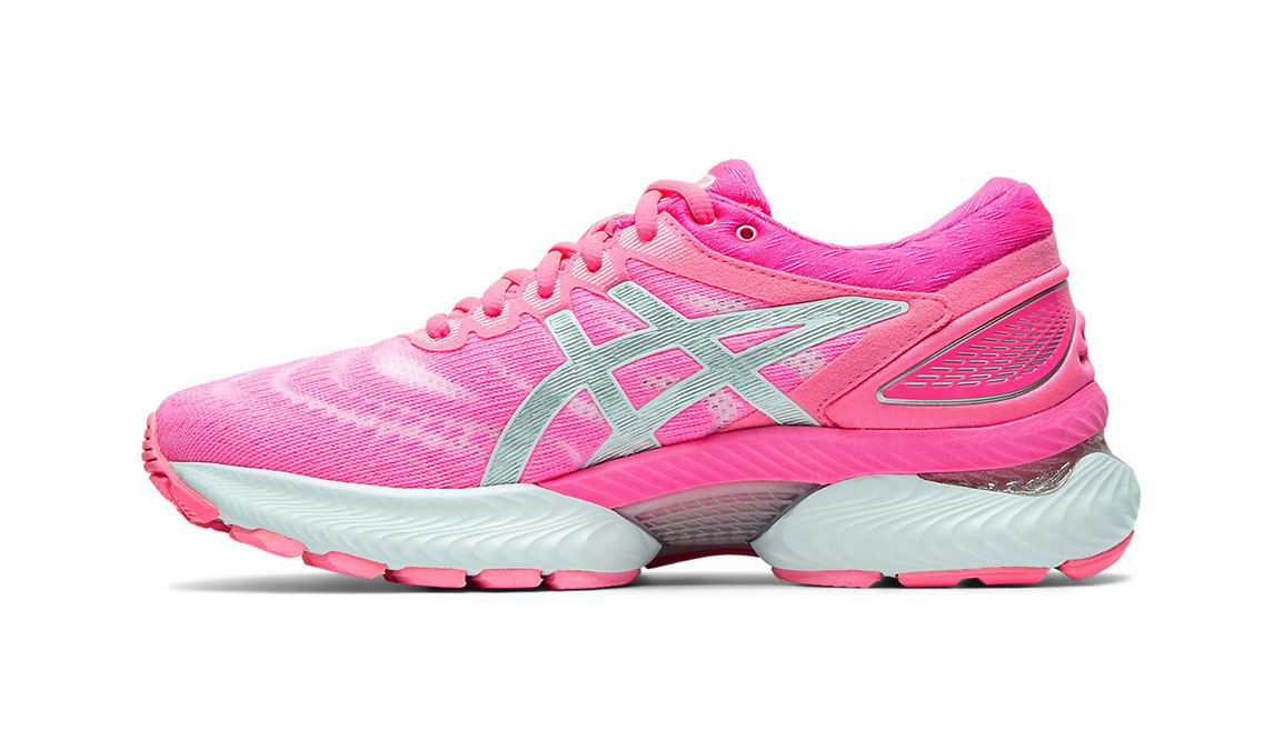 Women's Asics GEL-Nimbus 22 Running Shoe - Color: Hot Pink/Pure Silver (Regular Width) - Size: 6.5, Hot Pink, large, image 3